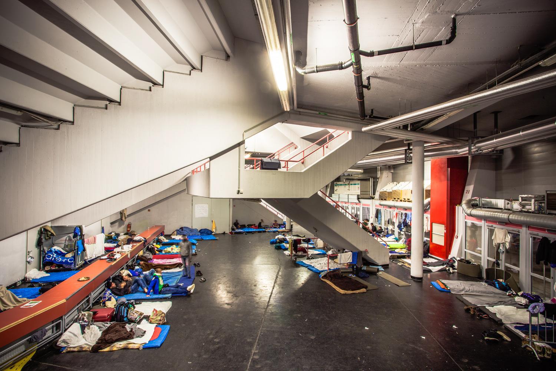 Hier werden die alleinreisenden Männer untergebracht. © Thomas Hennerbichler